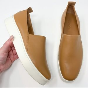 New Vince Saxon 2 Slip-On Platform Sneaker Carmel